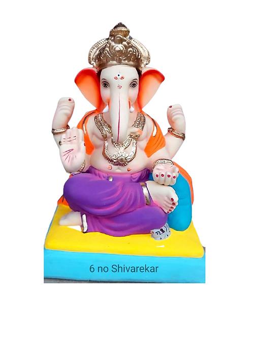 06 No Shivrekar Eco Friendly Ganesha - 19 Inch (Shadu Mitti)