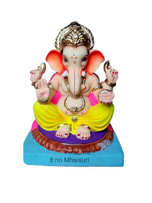 08 No Mhaisuri Eco Friendly Ganesha - 18 Inch (Shadu Mitti)