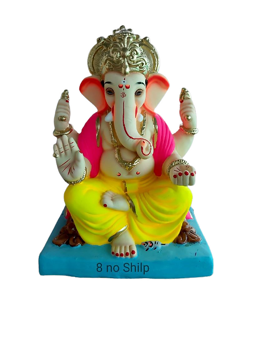08 No Shilp Eco Friendly Ganesha - 18 Inch (Shadu Mitti)