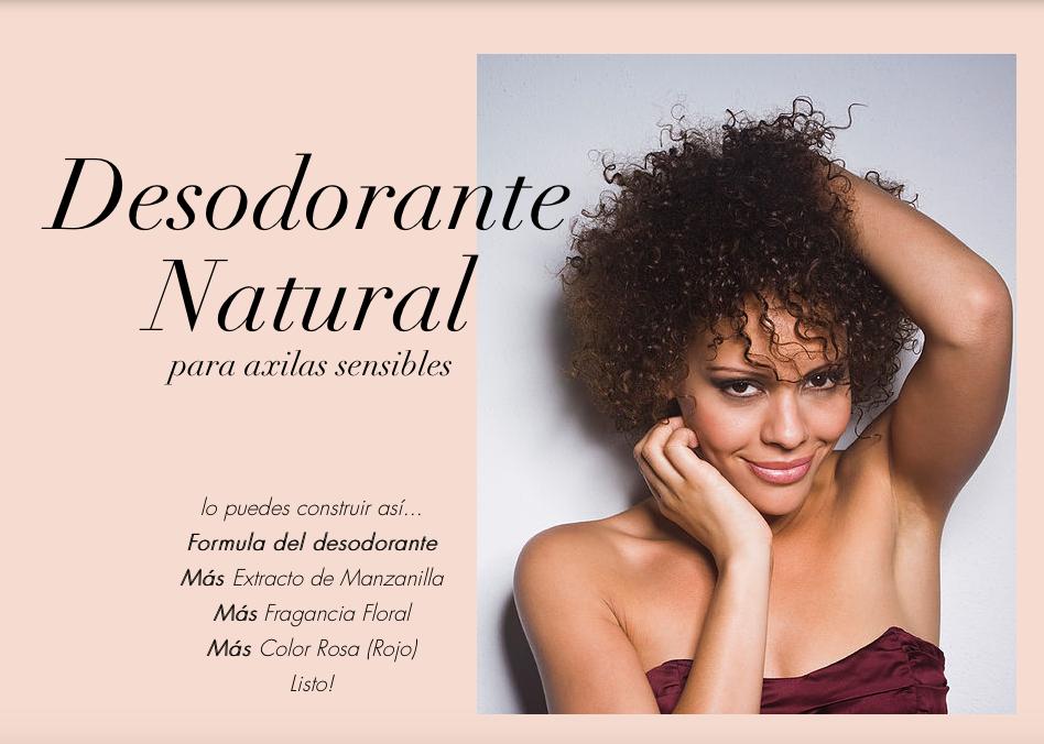 desodorante natural para axilas