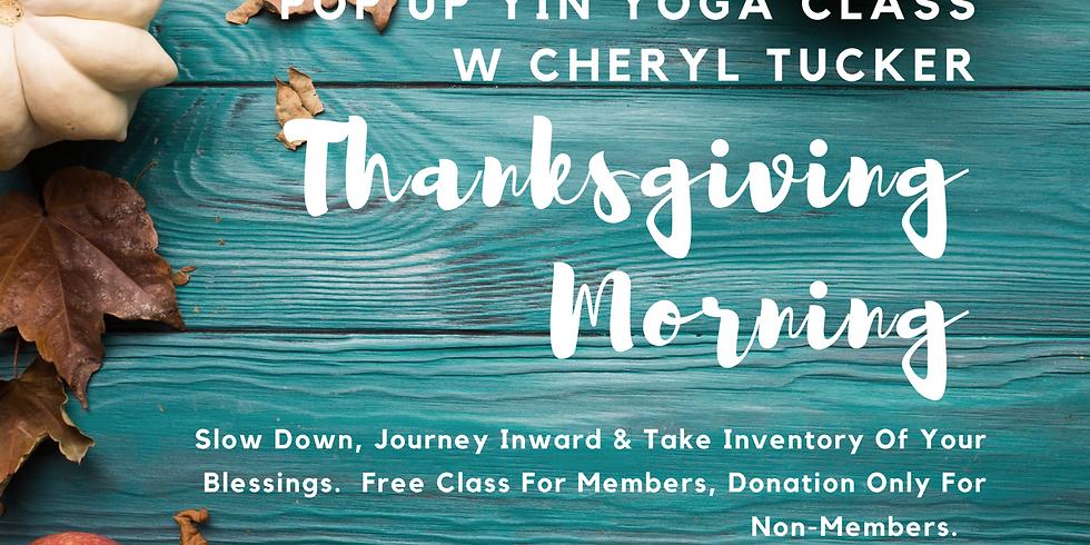 Thanksgiving Day Yin Yoga Class