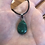 Thumbnail: Malachite on Leather Necklace