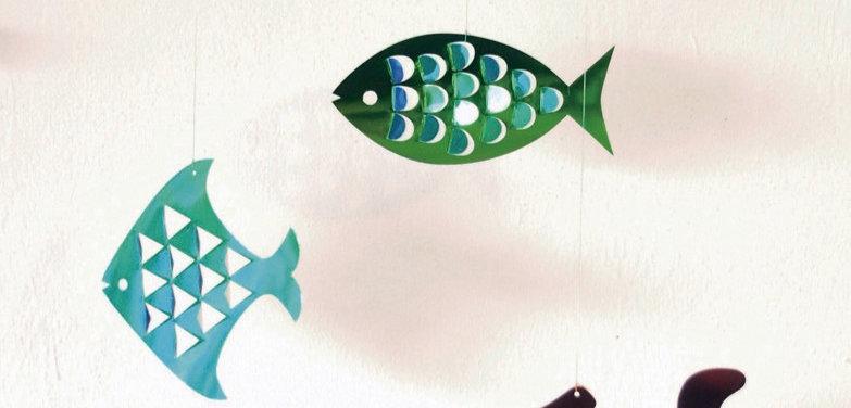 3種のお魚モビール