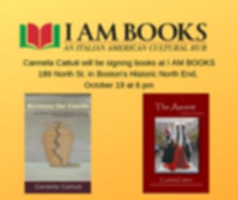 Carmela Cattuti will be signing books at