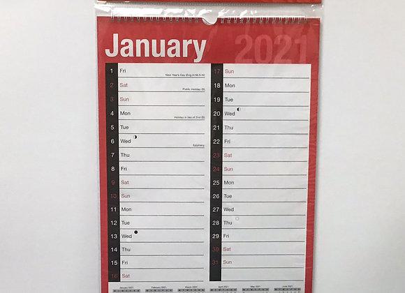 A3 Easy View Calendar