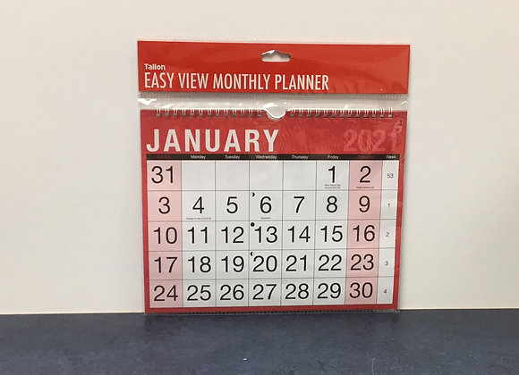 Easy View Monthly Planner