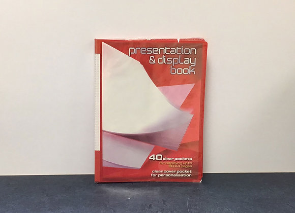 40 Pocket Presentation Display Book