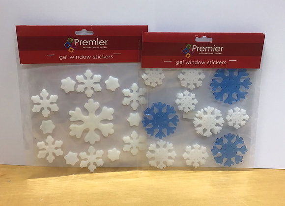 Snowflake Window Gel Stickers