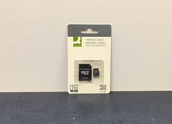 Micro SDHC Memory Card with SD-adaptor