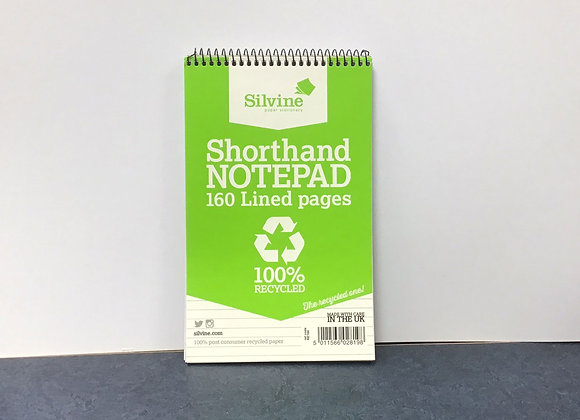 Recycled Shorthand Notepad