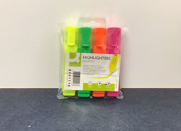 Pack of Four Highlighters