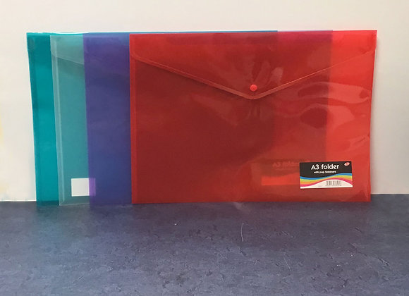A3 Plastic Wallet