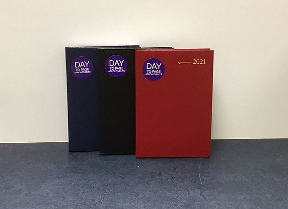 A5 Day to Page - Appointments Diary