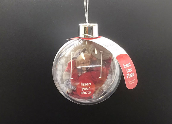 Insert Your Own Photo Christmas Bauble