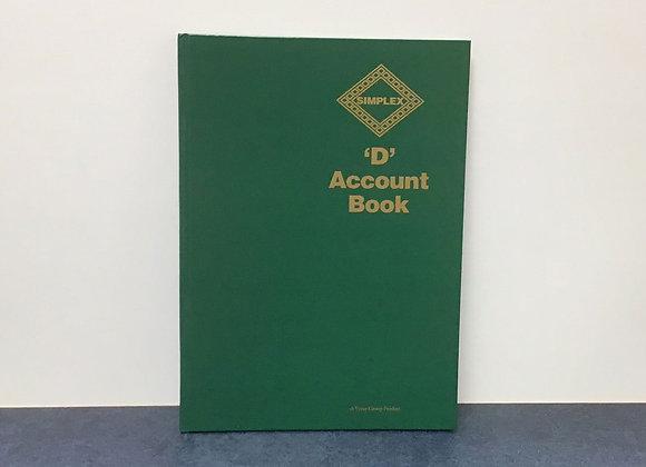 Simplex 'D' Account Book