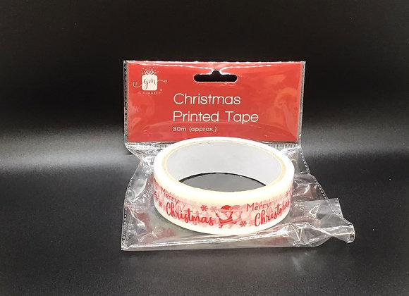 Christmas Printed Tape