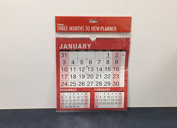 Three Months to View Planner