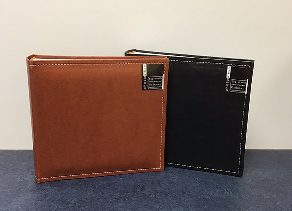 Leather Look 6x4 Photo Album with memo writing area