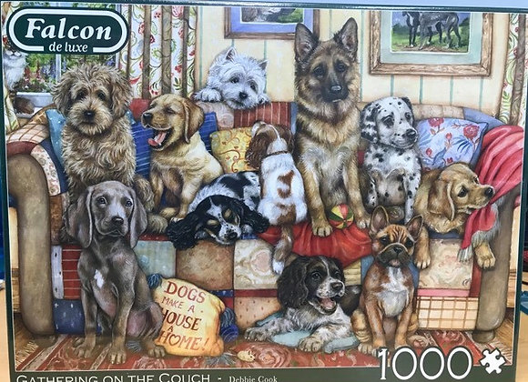 Gathering on the Couch - 1000 Piece Jigsaw