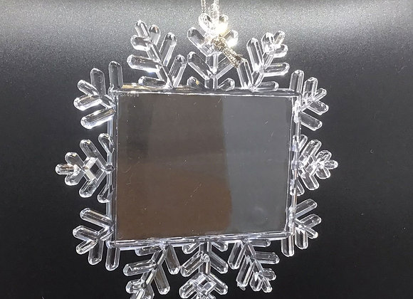 Insert Your Own Photo Snowflake Ornament