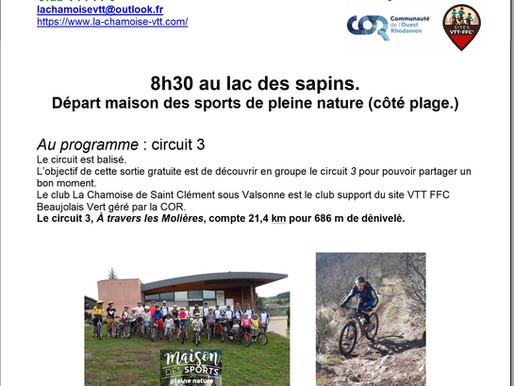 Découverte site VTT FFC Beaujolais vert : circuit 3.
