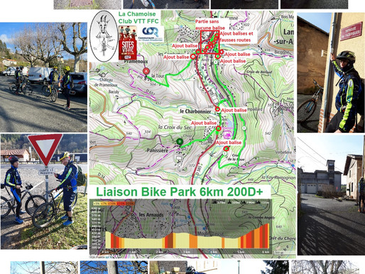 Intervention balisage du 24/01/21 : liaison bike Park de Lamure sur Azergues.