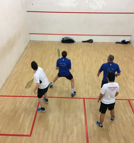 It's doubles night down at Cheam Squash - it appears that the past-masters still have it - cmon