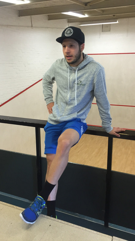 A couple of photos from days at Cheam Squash