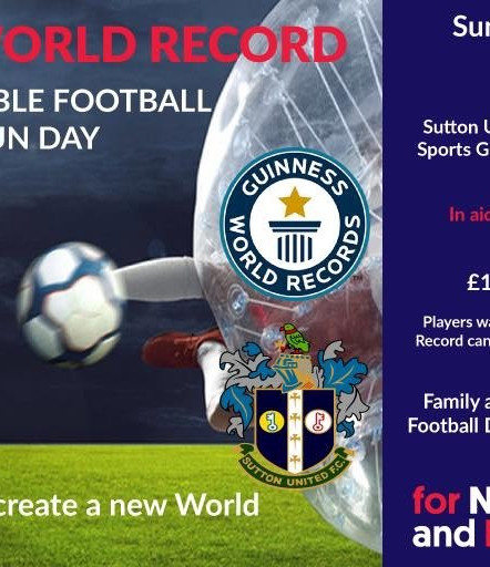 Cancer Research Event - Guinness World Record Attempt - Bubble Football @ Sutton United