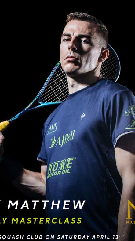 Nick Matthew at Cheam Squash