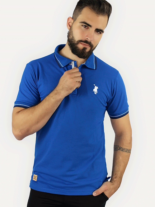 Polo Piquet Azul