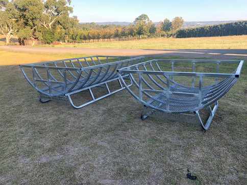 Single 1.4mtr and Double 2.5mtr Hay Cradles