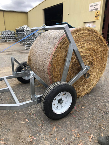Single Hay Bale Roll Out Trailer