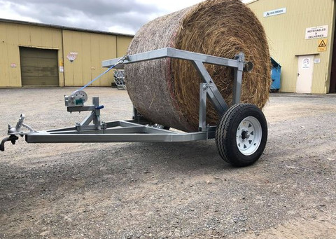 Hay Bale Roll Out Trailer