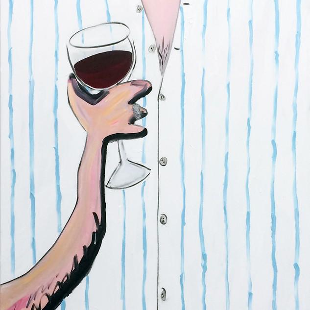 Autoportrait au verre de vin-180x100cm-2