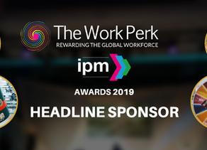 THE WORK PERK BECOMES HEADLINE SPONSOR OF THE 2019 IPM AWARDS