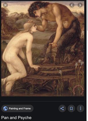 """Burne-Jones """"Pan and Psyche"""""""