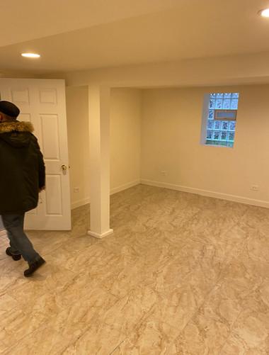 Unoccupied house basement