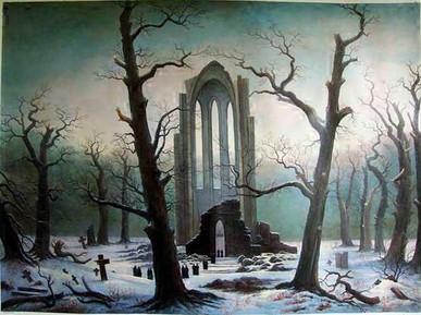 "Caspar Fredrick ""Monastary Graveyard"""