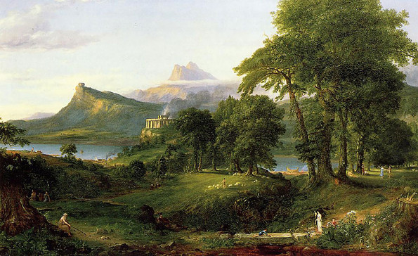 """Thomas Cole """"The Arcadian""""Or """"Pastoral State"""""""