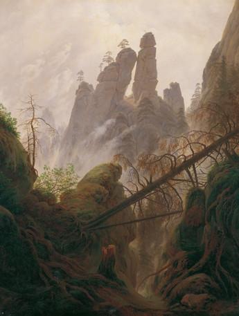"Caspar David Fredrick ""Rocky Landscape in the Elbe Sandstone Mt"""