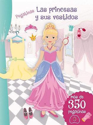 Las princesas y sus vestidos. Pegatinas