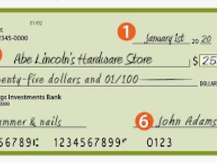お金の支払い方(クレジットカード、デビットカード、チェック、現金)