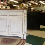 Amish-built cabinets, kitchen island