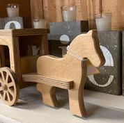 Amish wood toy