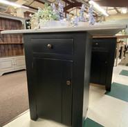 Hand-made cabinets, kitchen island