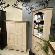 Amish-built furniture, corner cabinet