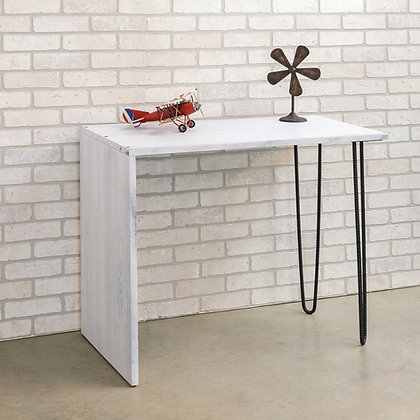 Waterfall desk with hairpin legs