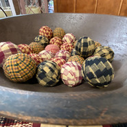 Cloth sitched balls, decor