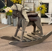 Hand-made rocking horse toy
